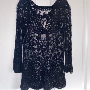Boho sheer lace dress